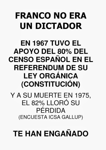 FRANCO NO ERA UN DICTADOR