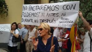 pancarta Pedro Sanchez
