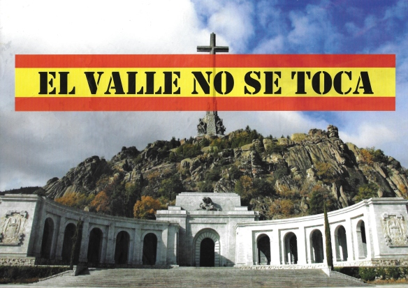 Cartel Valle no se toca-para camisetas