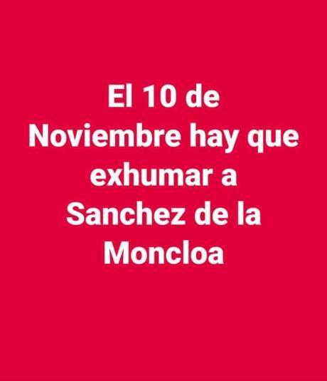 exhumar a Sánchez